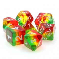 (Green+Yellow+Red) Transparent dice