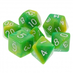 (Green+Yellow) Blend Color Dice