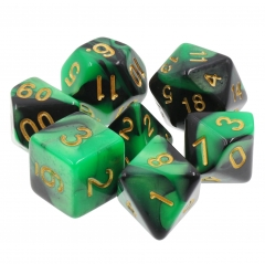 (Green+Black) Blend Color Dice