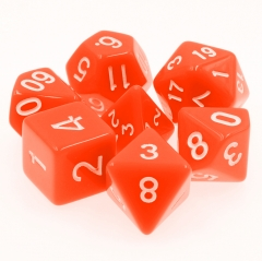 Orange Opaque Dice Set