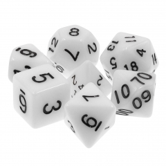 White Opaque Dice Set
