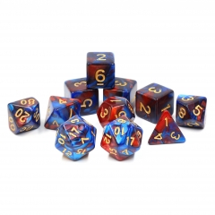 (Red+Blue) Blend Color Dice-11 pcs set