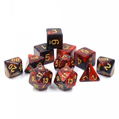(Red+Black) Blend Color Dice-11 pcs set